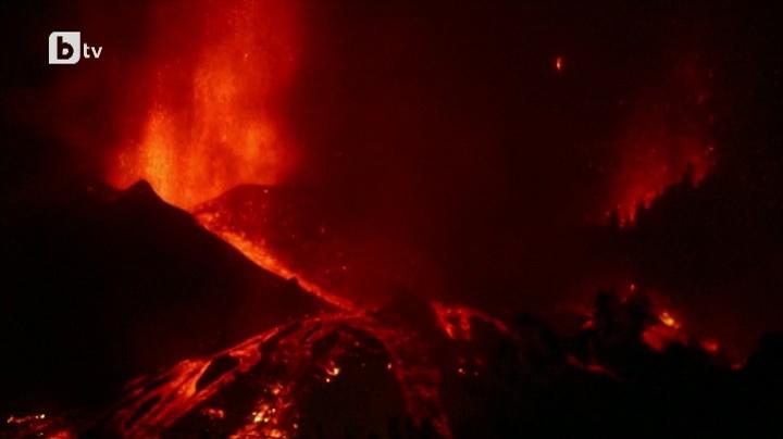 Вулкан изригна на Канарските острови и принуди хиляди да се евакуират