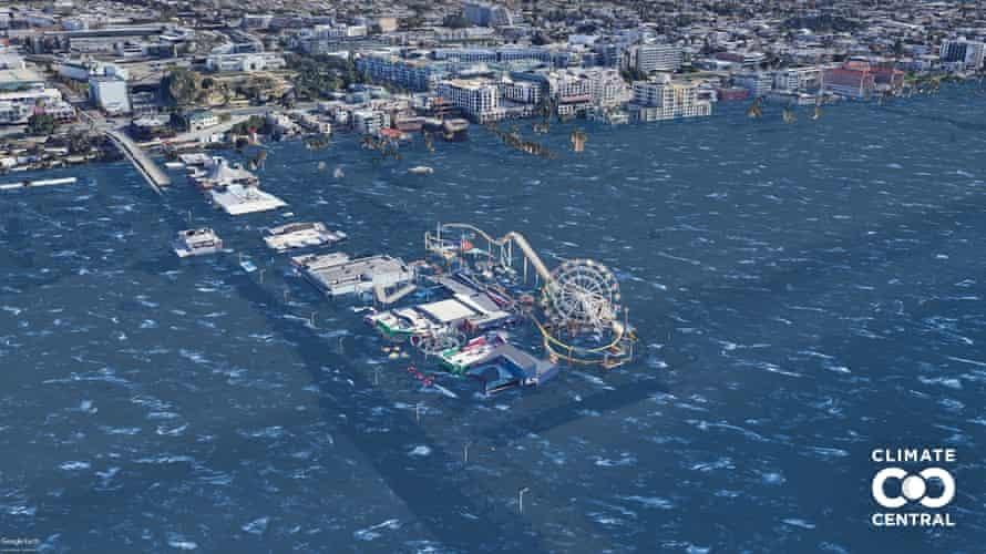 Вижте как ще изглеждат три от големите градове в САЩ след покачването на нивата на океана